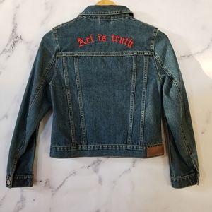 New ZADIG & VOLTAIRE Kioky Art Denim jacket